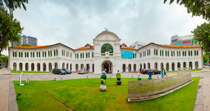 Beautiful Grounds and Architecture of the Singapore Art Museum Royalty Free Stock Image