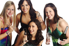 Beautiful group of friends celebrating success Stock Photography
