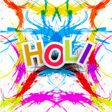 Beautiful grunge colorful Indian festival holi Royalty Free Stock Photos