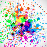 Beautiful grunge colorful splash indian festival Stock Photo