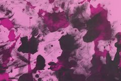 Beautiful grunge pink randomly painted canvas, fabric with color paint spots and blots texture for use as background. Beautiful shabby pink randomly painted stock photos