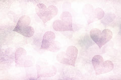 Beautiful grunge soft violet pastel color heart shapes Royalty Free Stock Photography