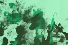 Nice shabby teal, sea-green randomly painted canvas, fabric with color paint spots and blots texture for background use. Beautiful grunge teal, sea-green stock photos