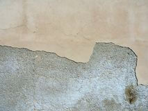 Beautiful grunge wall texture with flaked paint Royalty Free Stock Images