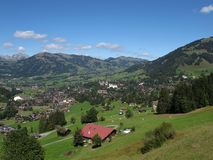 Beautiful Gstaad Royalty Free Stock Images
