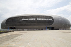Nice modern  Guangxi Sports Center. There are  many stadiums in  Guangxi Sports Center ,this is the Tennis center .It is located  in Nanning city, China Stock Photo