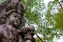 Beautiful Guanyin statue at Eikando Temple in Kyoto stock image