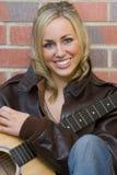 Beautiful Guitarist Stock Photos