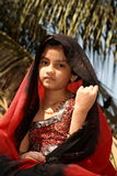 Beautiful Gujarati Girl Stock Photo