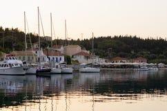 The beautiful gulf of Fiskardo, Kefalonia island, Greece Royalty Free Stock Photo