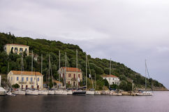 The beautiful gulf of Kioni, Ithaca island, Greece Stock Photography