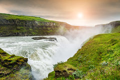 Beautiful Gullfoss waterfall. Iceland Stock Image