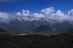 Beautiful Gulmarg Landscape-2. A beautiful landscape in Kashmir with dramatic clouds over the snow peaks Stock Images