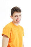 Beautiful guy smiles Royalty Free Stock Images