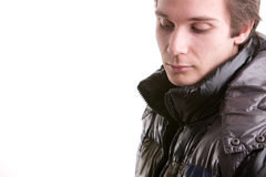 Beautiful guy in winter with anorak Royalty Free Stock Images