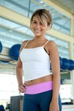 Beautiful gym woman Royalty Free Stock Images