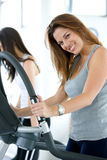 Beautiful gym woman Royalty Free Stock Photography