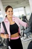 Beautiful gym woman Stock Images