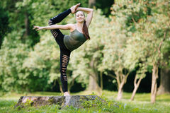 Beautiful gymnast Royalty Free Stock Image