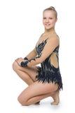 Beautiful gymnast girl Stock Photo
