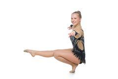Beautiful gymnast girl Royalty Free Stock Image