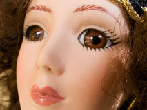 Beautiful Gypsy Doll Face. Beautiful Antique Porcelain Gypsy Doll Face Stock Images