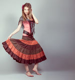 Beautiful gypsy teen Royalty Free Stock Images