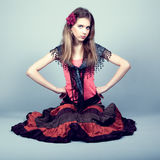 Beautiful gypsy teen Royalty Free Stock Image