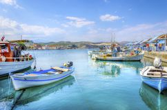 Beautiful Gythio, Greece stock images