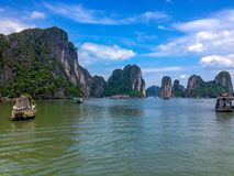 Beautiful Ha Long Bay, Vietnam royalty free stock photos