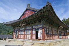 Beautiful Haeinsa temple exterior, South Korea. Stock Photos