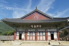 Beautiful Haeinsa temple exterior, South Korea. Royalty Free Stock Image