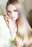 Beautiful hair. Portrait of beautiful woman with amazing shining blond hair Stock Photo