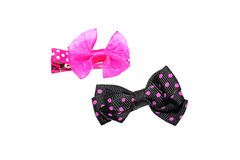 Beautiful hair bow ties isolated Stock Images