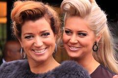 Beautiful hair models stock image