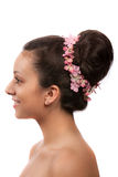 Beautiful Hair Style for Bride on White Royalty Free Stock Photography
