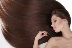 Beautiful hair. T Royalty Free Stock Image