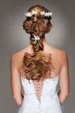 Beautiful haircut with small flowers Royalty Free Stock Image