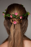 Beautiful hairdo with rosses Royalty Free Stock Images