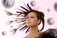 Beautiful hairstyle Royalty Free Stock Photos