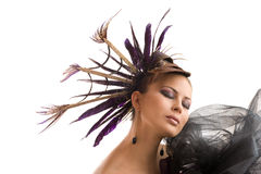 Beautiful hairstyle Stock Image