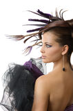 Beautiful hairstyle Stock Images