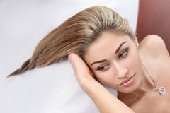 Beautiful hairstyle Stock Image