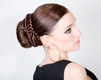 beautiful hairstyle Royalty Free Stock Images