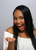 Beautiful Haitian Girl, Headshot (5) Royalty Free Stock Image