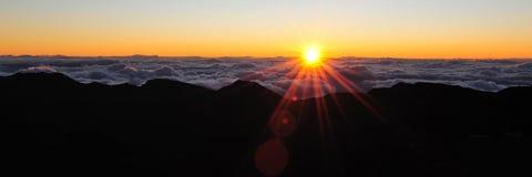 Beautiful Haleakala Crater on Maui Stock Photos