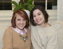 Beautiful half sisters Royalty Free Stock Photo