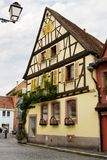 A beautiful half-timbered house in Selestat. Selestat is a commune in Alsace, France. The city is one of the richest and most varied in terms of architecture stock image