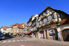 Beautiful half-timbered houses in Alsace, France Stock Photography