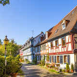Beautiful half-timbered houses Stock Images